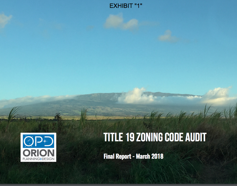 Title 19 Zoning Code Audit Report Summary (2018)
